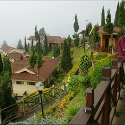 Cottages tussen de bergen