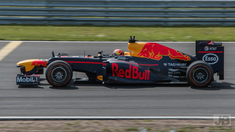 Max Verstappen - Max in de demo RB8 van het team. Schitterend op het mooie Zandvoort circuit tijdens de Jumbo Familie Racedagen