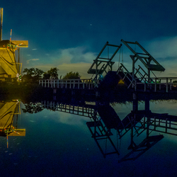 Lightweek at the mills of Kinderdijk