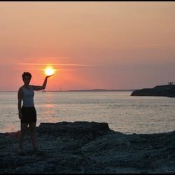 Saint Palais sur Mer, coucher du soleil.