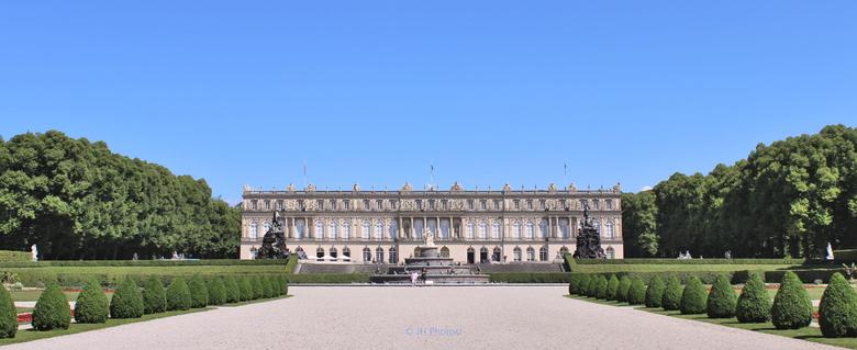 Neues Schloss - Neues Schloos, gebouwd door Koning Ludwig, op de Herreninsel in de chiemsee.