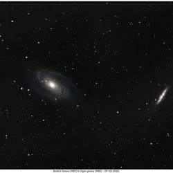 bode's galaxy & Cigar galaxy
