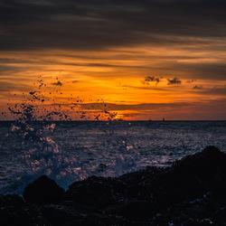 Splash after sunset