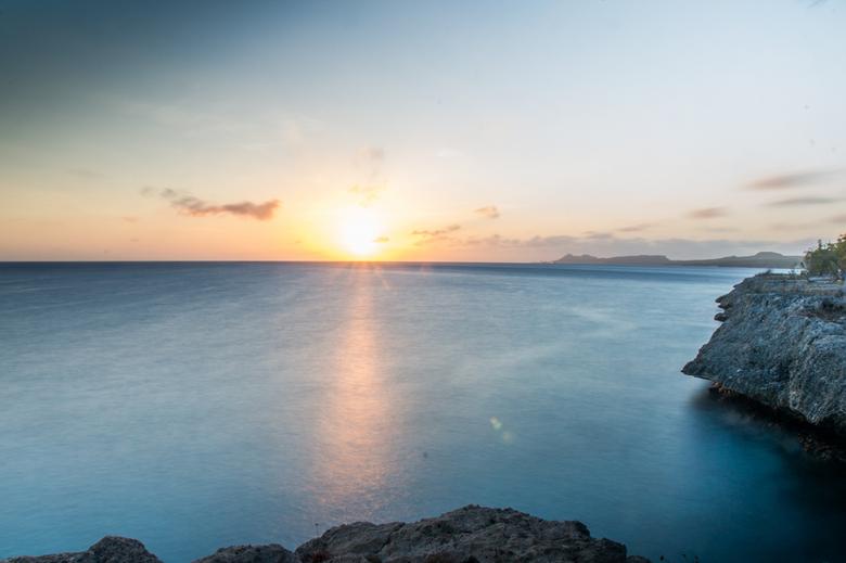 Sunset Bonaire - De eerste foto van Bonaire! Een prachtige zonsondergang waarbij ik dankbaar gebruik heb gemaakt van mijn Genus Eclipse ND Fader. Mooi
