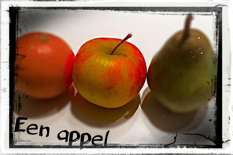 Een appel - Een appel<br /> Bewerkt in Pixlr