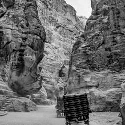 De kloof van Petra