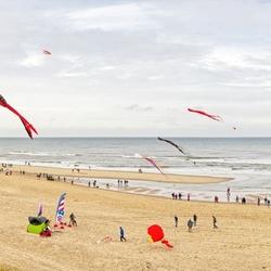 Windfestival op het strand van Texel.