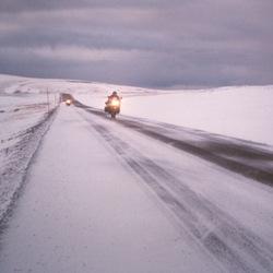 Opweg naar de Noordkaap.