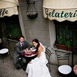 Italie bruiloft ijsje