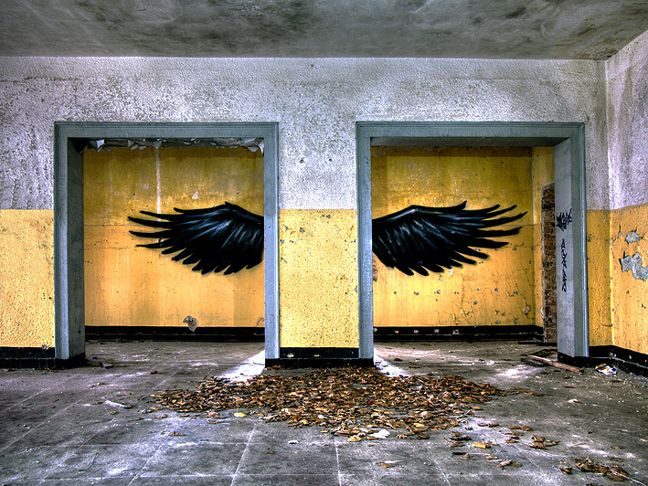 Wings - Wings in one of the barracks of the Russian Army in the former DDR.