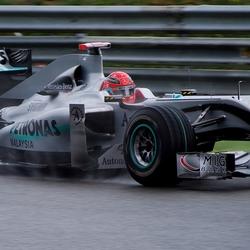 Schumacher in de regen