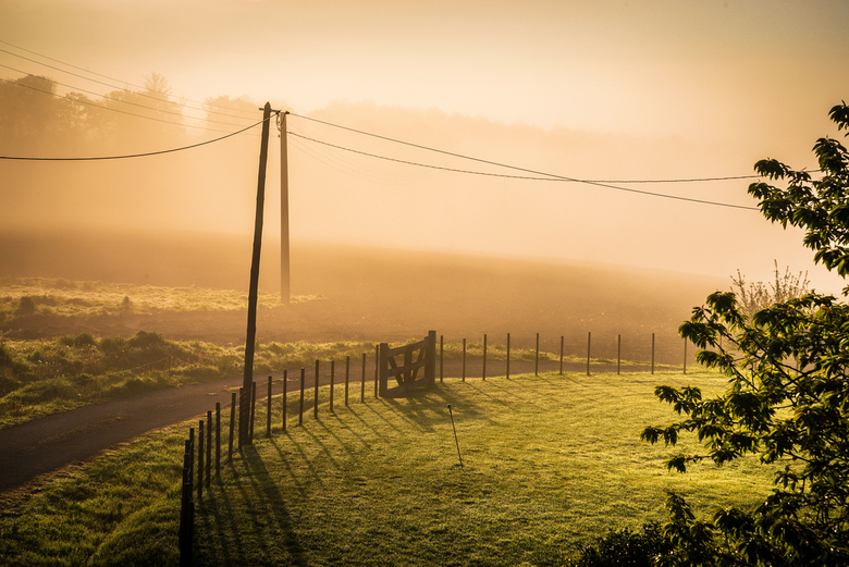 Sunrise in the French countryside .... - The most peaceful sunrise ....