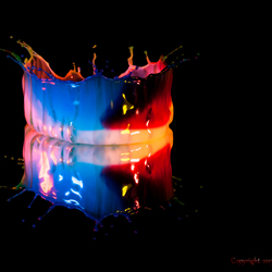 Waterdruppel   Licht gevend kommetje