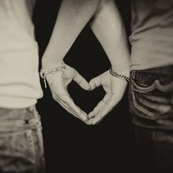 Two people, one heart
