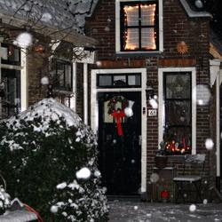 Kerstochtend met sneeuw