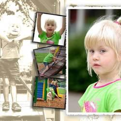 kinderen, portret, bewerkt
