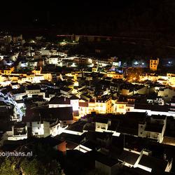 Nachtelijk uitzicht vanaf Castillo de Monda in Monda