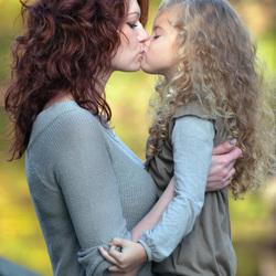 moeder en kind samen een